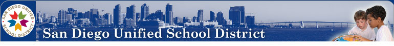The San Diego Unified School District logo